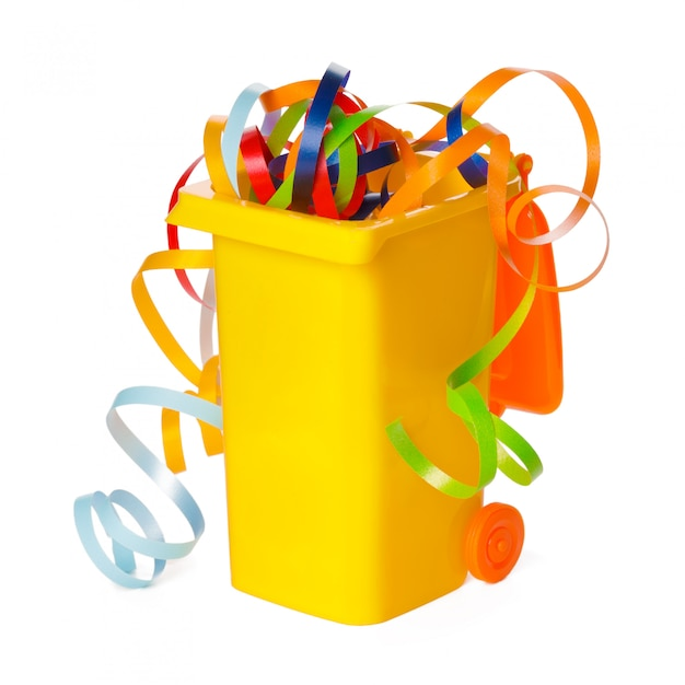 Recycle bin isolated on white background Premium Photo