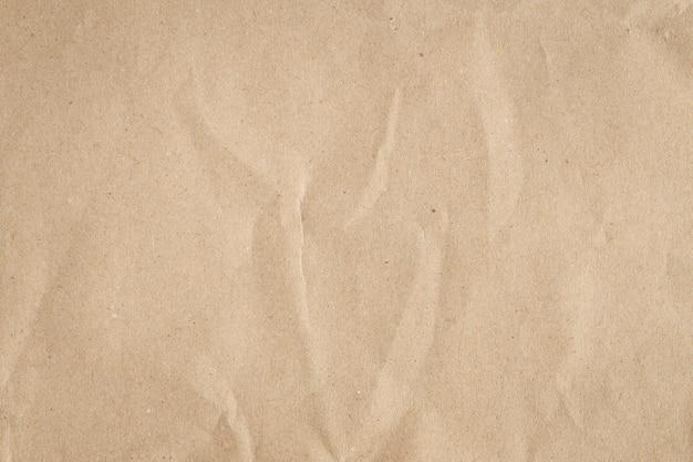 Recycle коричневая бумага мятую текстуру, старый фон бумаги Premium Фотографии