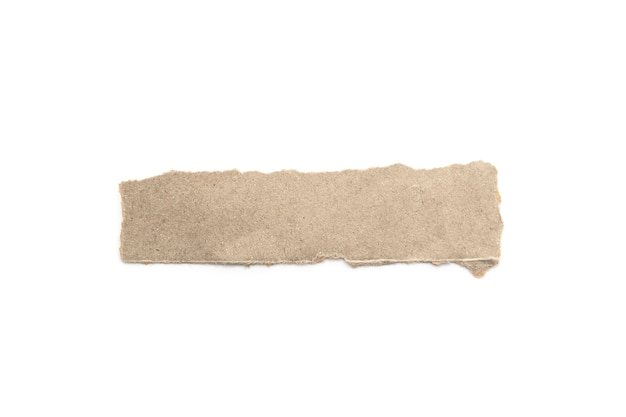Recycled paper craft stick on a white background. Premium Photo