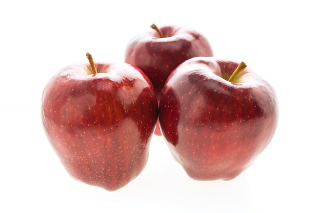 Red apple isolated on white background Free Photo