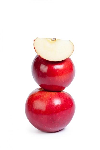 Red apple isolated Premium Photo
