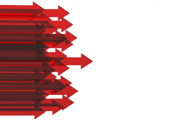 Red arrow. growing business background concept.3d rendering. Premium Photo