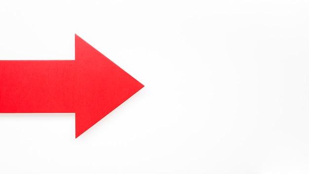 Красная стрелка с копией пространства Бесплатные Фотографии