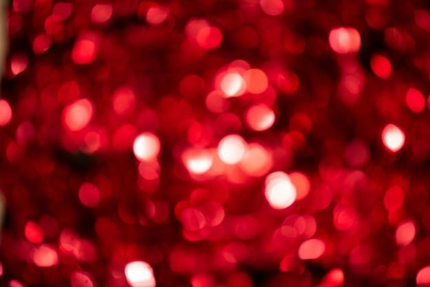 크리스마스 빛의 빨간색 배경 무료 사진