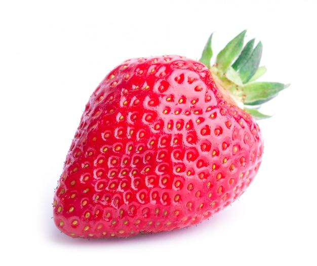 Red berry strawberry isolated Premium Photo