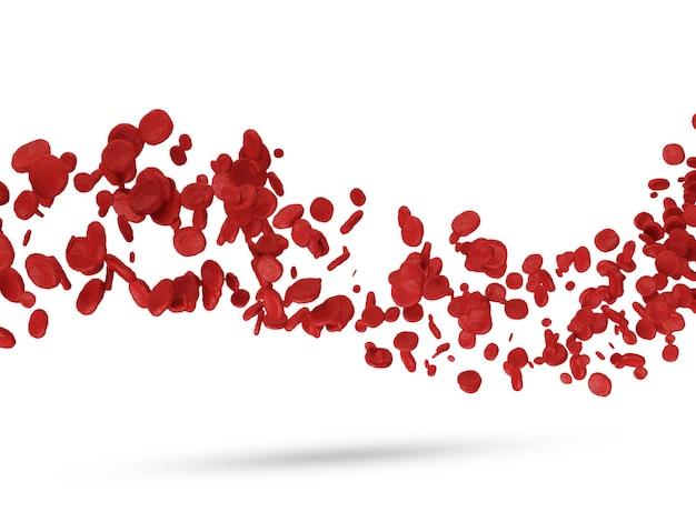 Красные кровяные тельца на белом Premium Фотографии