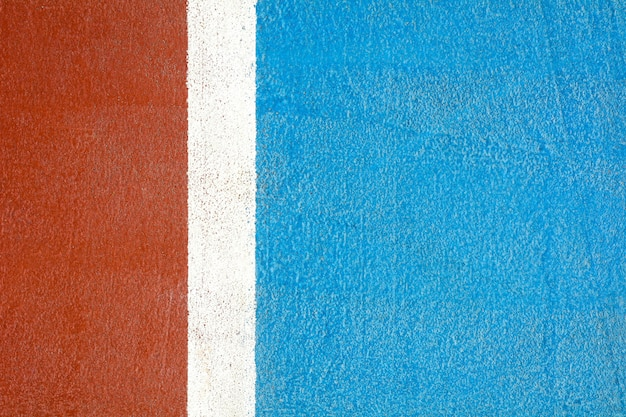 Red and blue basketball court - close up Premium Photo