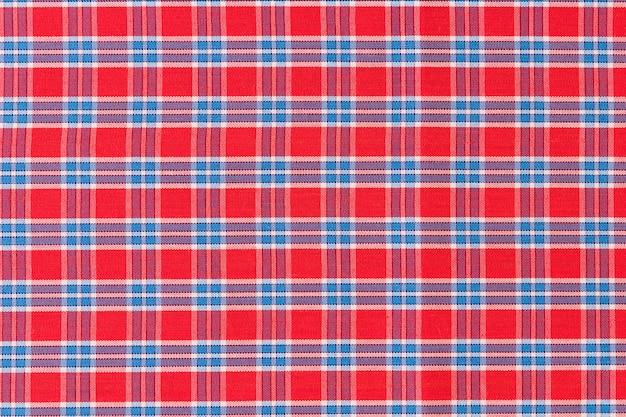 Red and blue checkered pattern texture background Free Photo