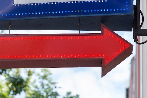 Red and blue street arrows Free Photo
