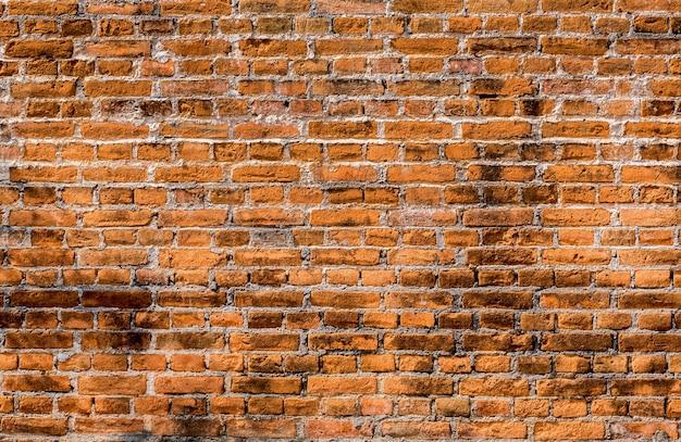 赤レンガの壁の背景 Premium写真