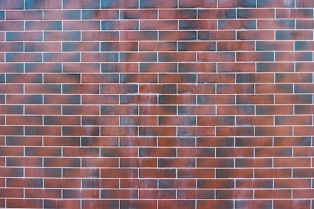 Muro di mattoni rossi. texture di marrone scuro e rosso mattone con ripieno bianco Foto Gratuite