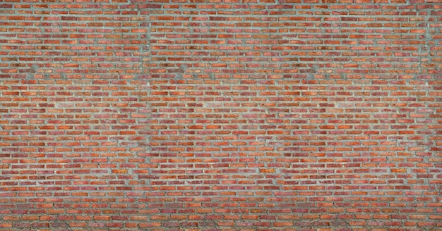 Red brick wall texture grunge background Premium Photo