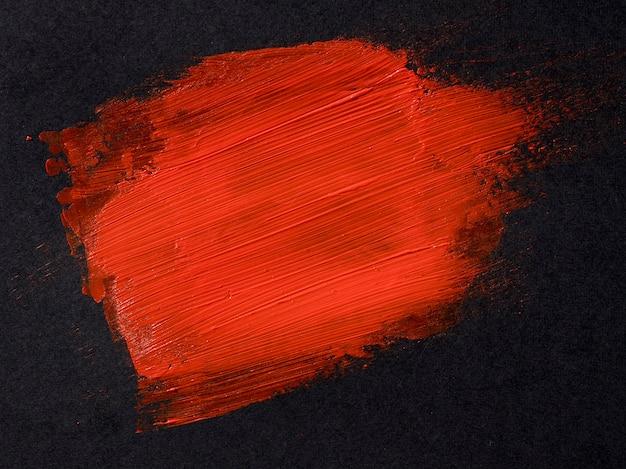 赤いブラシストロークのコンセプト Premium写真