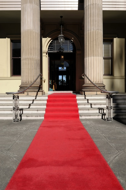 Red carpet in front of luxury hotel Photo  Free Download