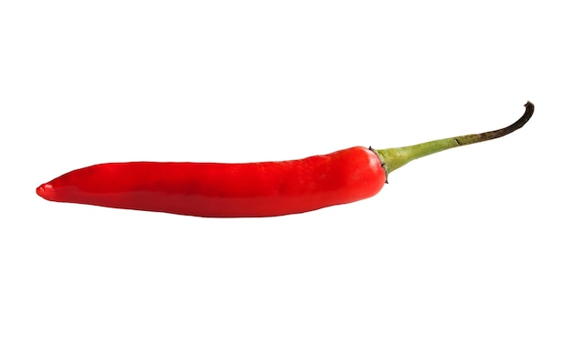 Red chili pepper isolated on a white background Free Photo