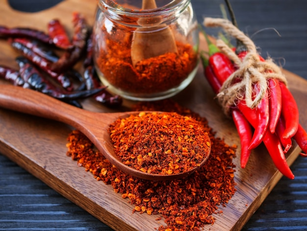 Red chilly pepper Premium Photo