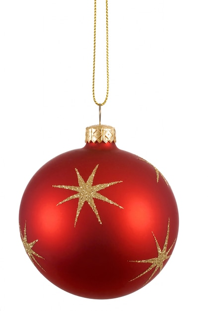 Red christmas tree ball photo free download