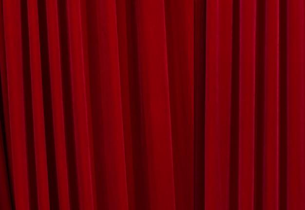 Red closed curtains Premium Photo