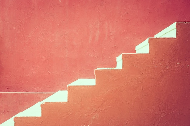 Red concrete staircase Free Photo