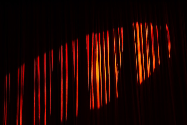 Red curtain and lights in the theater before the show Premium Photo