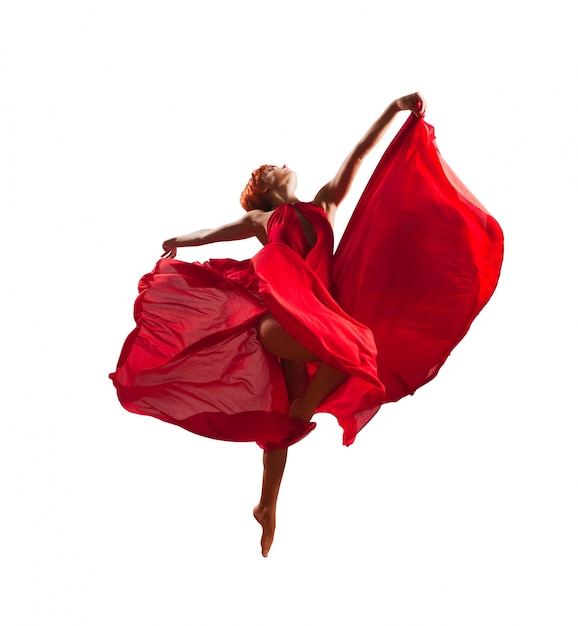 Red dancer Free Photo