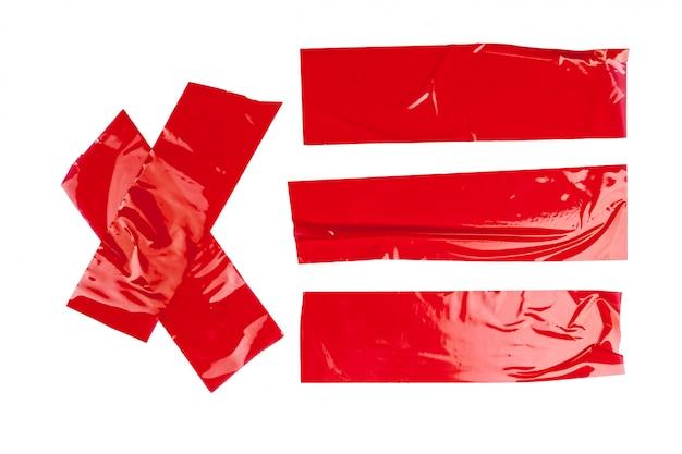 Red duct repair tape isolated Premium Photo