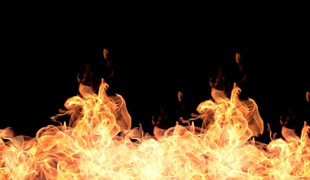The red flames Premium Photo