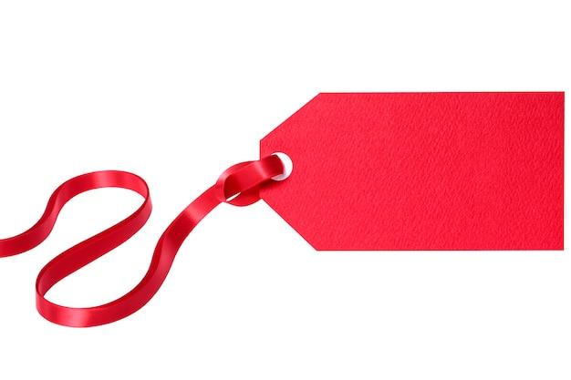 Red gift or price tag Free Photo