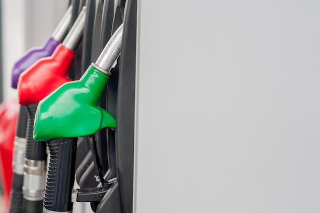 Red green yellow orange color fuel gasoline dispenser Premium Photo