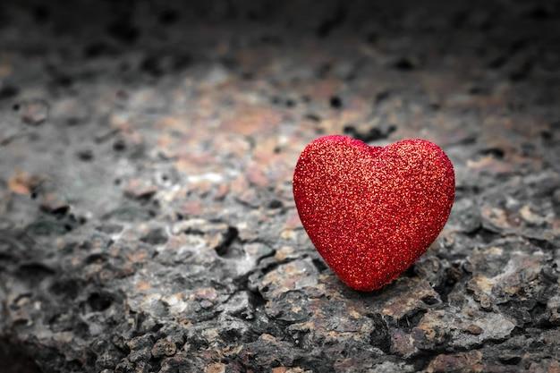 Red heart background. valentine day wallpaper. Premium Photo