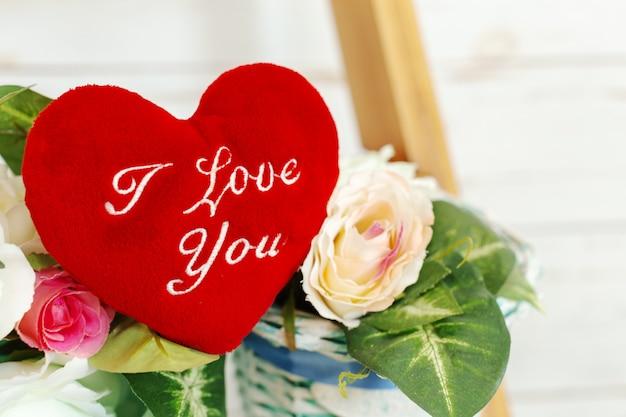 Red heart i love you Premium Photo