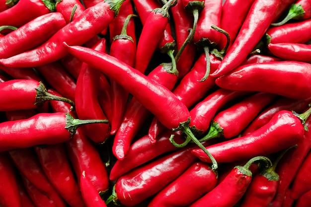 Red hot chili peppers background Premium Photo