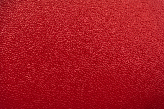 Red leather texture background. Premium Photo