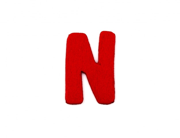 Red letter n Free Photo