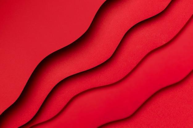 Эффект красной жидкости на слоях бумаги Бесплатные Фотографии
