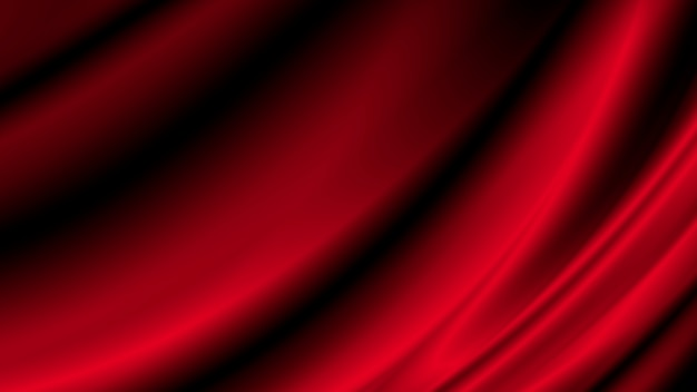 Red luxury fabric background with copy space Premium Photo