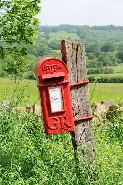 Red mailbox Free Photo