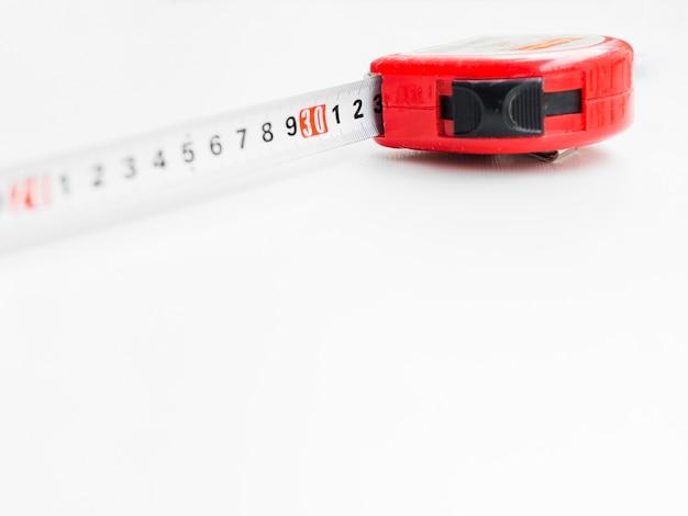 Red measuring tape Premium Photo