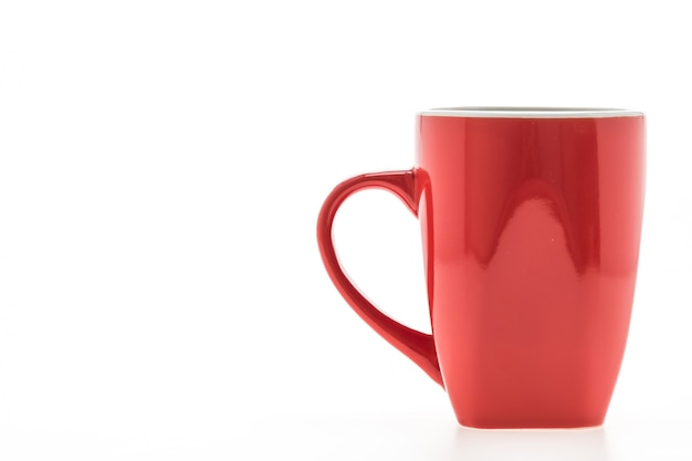 Red mug with reflections Free Photo