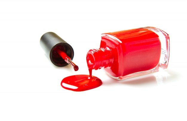 Red nail polish Premium Photo