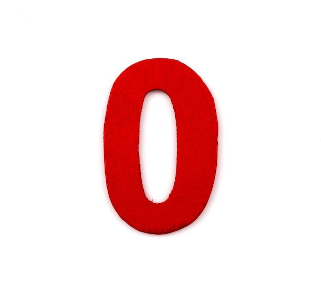 Red number zero Free Photo