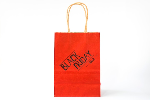 Red paper shopping package Free Photo