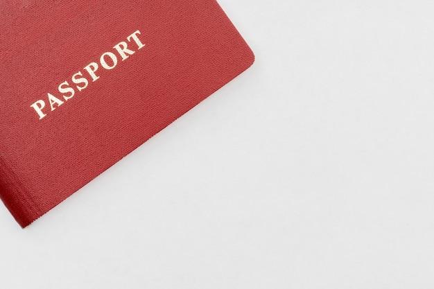 Red passport on white background Premium Photo