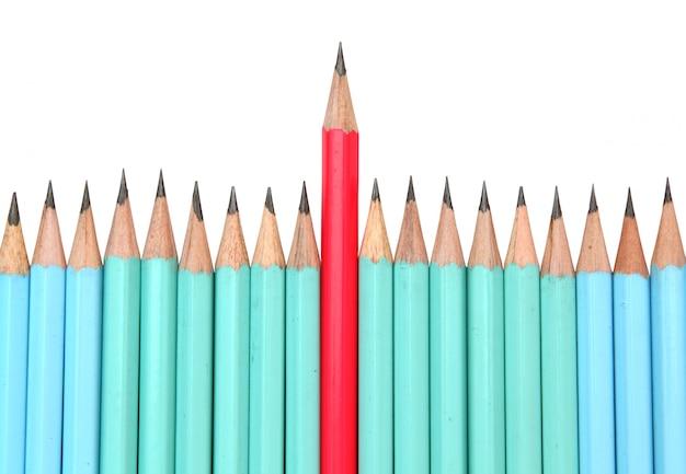 Red pencil, the leader concept Premium Photo