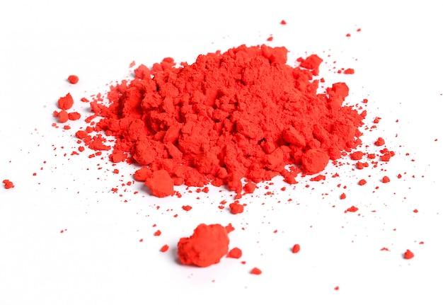 分離された赤い粉、ホーリー祭のコンセプト 無料写真