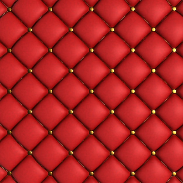 Red quilted texture Free Photo