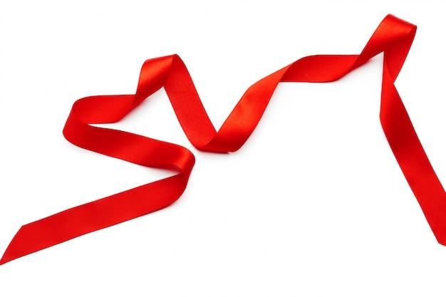 Red ribbon Premium Photo
