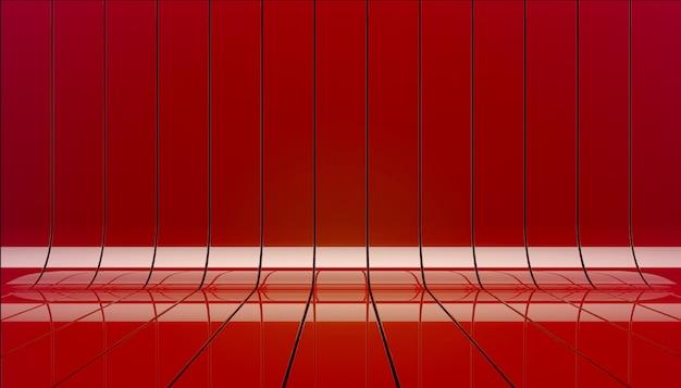 赤いリボンステージ背景3 dイラスト。 無料写真