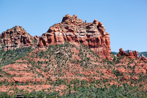 米国アリゾナ州セドナの赤い岩 Premium写真