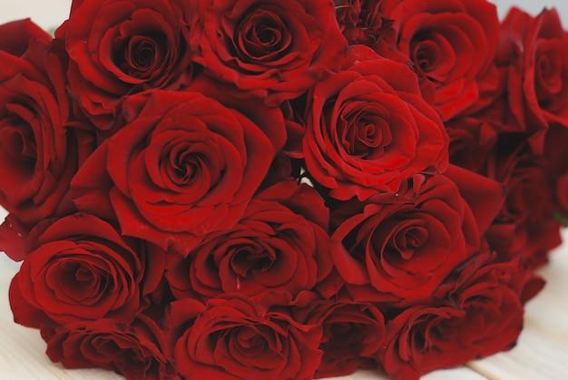 Red rose flowers texture Premium Photo